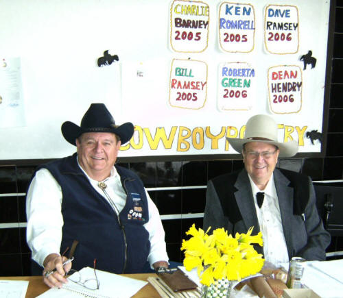 Optometrists in St. Anthony sponsor the Cowboy Poetry Reading event.